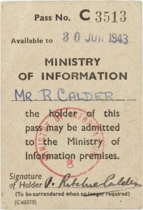 Ministry Of Information journalist's pass